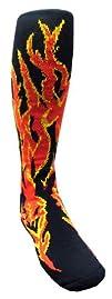 HOT Flame Patterned Athletic Socks