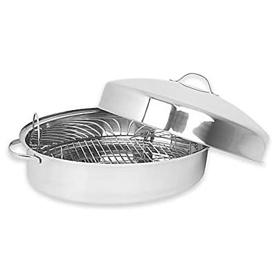 Oneida Stainless Steel 18-Inch x 12-Inch Oval Domed Covered Roaster