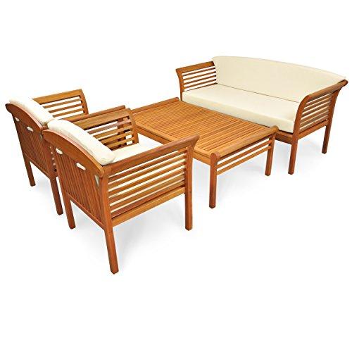 indoba-IND-70110-SASE4-Serie-Samoa-Gartenmbel-Set-Loungeset-4-teilig-aus-Holz-FSC-zertifiziert-2-Gartensthle-1-Gartenbank-1-Gartentisch-4-Stuhlauflagen-2-Sofaauflagen