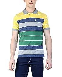 Puffz Men's Cotton Polo_08_Multicolored_L