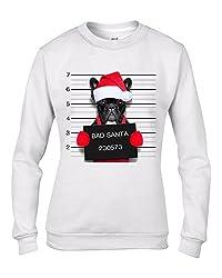 Bad Santa Claus Pug Dog Christmas Women's Sweatshirt \ Jumper by Tribal T-Shirts