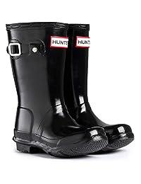 Hunter Original Kids Gloss Junior Black Rubber Wellingtons Boots