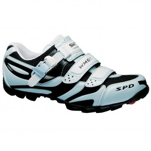 Shimano SH-WM61 Mountain Bike Shoes - Women's, Light Blue/Black, 42