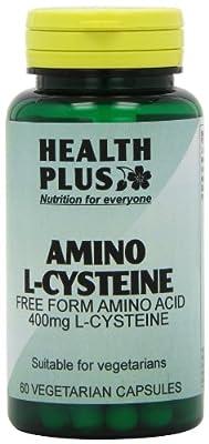 Health Plus Amino L-Cysteine 400mg Amino Acid Supplement - 60 Capsules