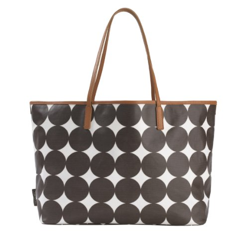 dwellstudio madison diaper bag chocolate dots designer nappy bags