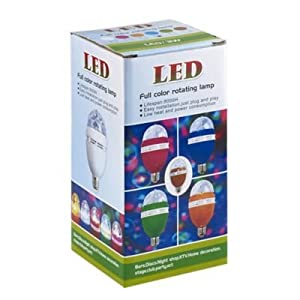 Spinning Party Light Bulb - Use In Ceiling Lights And Floor Lamps from lakeland