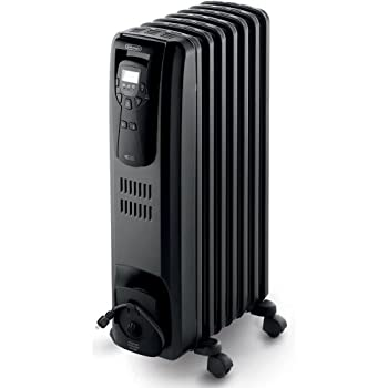 Effectively heat any room of the house with the De'Longhi portable oil-filled radiator.  This heater actually saves you energy by automatically regulating the temperature.  It cycles between high, medium and low to maintain a constant comfort level. ...