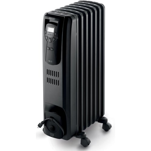 DeLonghi EW7507EB Oil Filled Radiator Heater Black 1500W (New Heat Thermostat compare prices)
