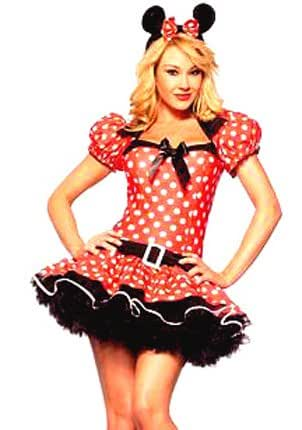 Forever Young Ladies Minnie Mouse Fancy Dress Costume (UK Size 6)