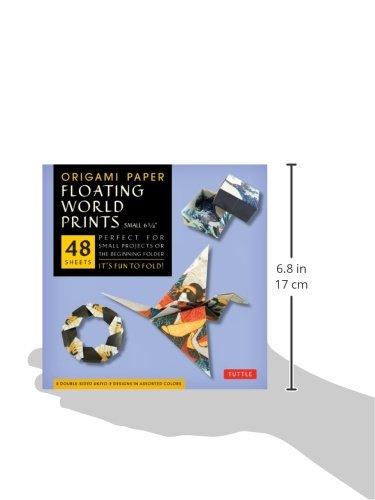 origami paper floating world prints small 6 34 fai da
