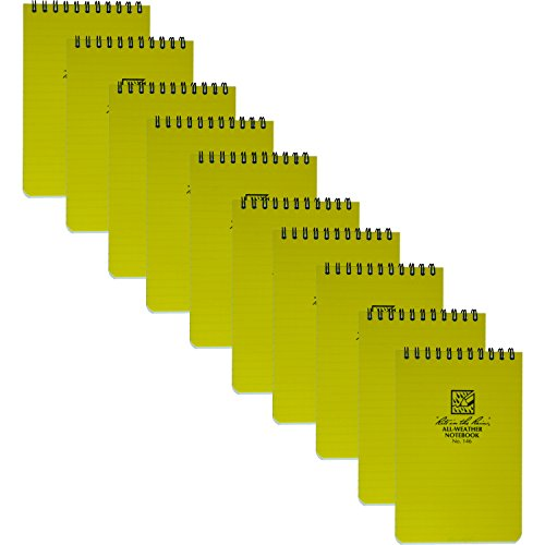 Rite in the Rain 146 Universal Yellow Pocket Notebook 4-Inch x 6-Inch, 10-Pack (Writing In The Rain compare prices)