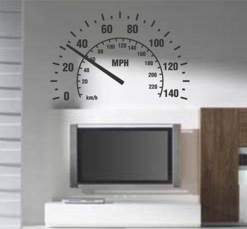 Crystal-Emotion-Speedometer-Wall-Decal-Sticker-Room-Nursery-Car-Cars-Baby-Man-Garage-Speed-Fast-For-Room