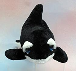 Wishpets 13 Orca Whale Large Blue Eye Plush Toy