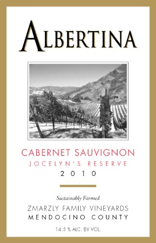 2010 Albertina Wine Cellars Cabernet Sauvignon Jocelyn'S Reserve 750 Ml