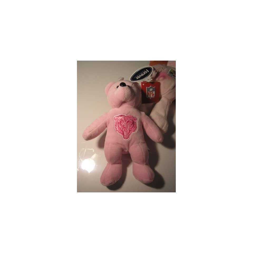 Forever Collectibles Pink NFL Chicago Bears Teddy Plush NFL Cancer Awareness Bear