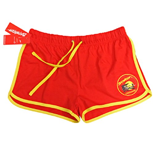 BAYWATCH LADIES RED/YELLOW SHORTS (Medium)