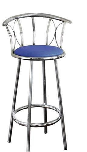 Set of 2 Chrome Metal SWIVEL BAR STOOLS barstools Blue  : 41VhM1nQvwL from overstock-bar-stools.blogspot.com size 286 x 500 jpeg 18kB