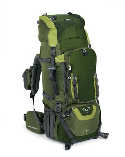 High Sierra Titan 55 Frame Pack Amazon/Pine/Leaf front-382014