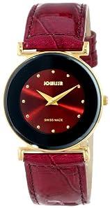 Jowissa Women's J3.027.M Elegance Gold PVD Maroon Dial Watch