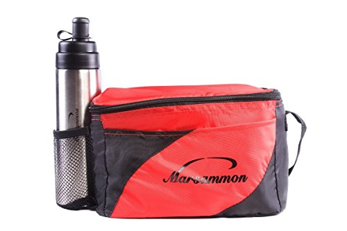 Lunch Box Cooler, Insulated Bag, Kids Lunch Bag Cooler, Lunchbox, Lunch Box Tote, School Cooler Lunch Bag, Adult Lunch Bag (Red/Black) - 1