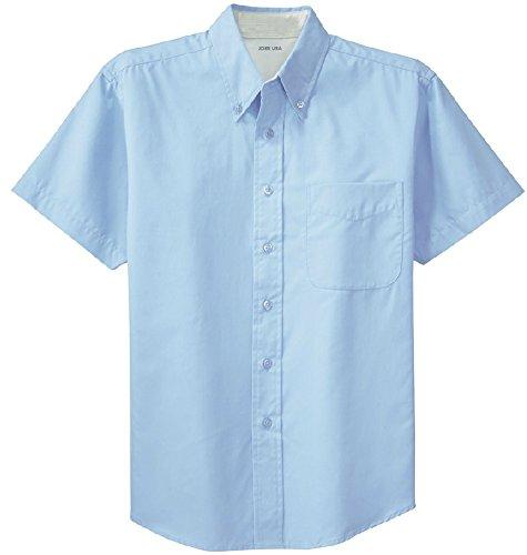 Joe's USA(tm) - Men's Short Sleeve Wrinkle Resistant Easy Care Shirts, Light Blue/Light Stone,XL (Light Blue Short Sleeve Shirt compare prices)