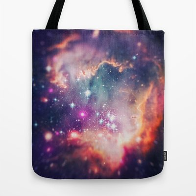 Society6 - The Universe Under The Microscope (Magellanic Clou… Tote Bag By Badbugs_Art