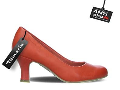 Tamaris Pumps Sexy Papaya rot High-Heels Barock-Absatz 1-22435-20 603 Papaya, Größe:EUR 36