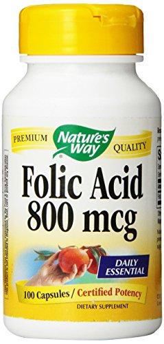 Natures Way Folic Acid 100 Caps