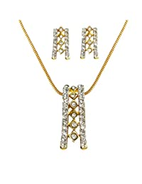 Dg Jewels 24k Gold Plated Pretty Pendant Set-CPS8034