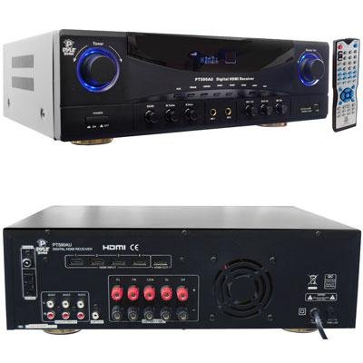 Pyle-Home Pt590Au 5.1 Channel 350 Watts Home Theater Built-In Am/Fm Radio/Usb/Sd Card Hdmi Amplifier Receiver