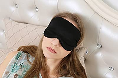iSleep -- Silk Eye Sleep Mask Lavender Blindfold Eyeshade