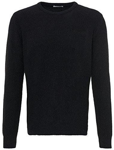Roberto Collina maglione con tasca sul petto da uomo, Nero, Nero (nero), 54