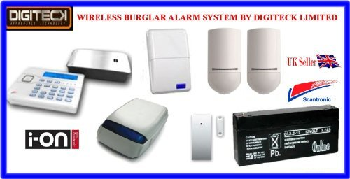 Tc101- Scantronic Ion-16 Wireless Intruder Alert Pet Immune Burglar Alarm System front-227755