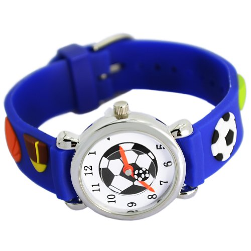Readeel【sports 】Analog Watch Deep Blue Silicone Absolutely Environmentally Friendly Materials Band Red Football Children Cartoon Watch cindiry 2017 cartoon children watch cute wristwatch fashion girls boys kids silicone quarts watches student sports clock gift