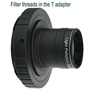 Gosky Metal 1.25'' Telescope Camera T-adapter and Nikon T2 T-ring Adapter for Nikon DSLR SLR (Fits Nikon D90, D80, D70, D60, D50, D40x, D40, D800, D700 and all Nikon SLR Cameras (Color: T Adapter for Nikon)