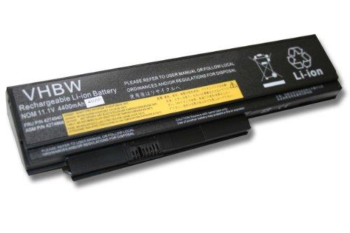 Batterie LI-ION 4400mAh 11.1V noir pour IBM Lenovo ThinkPad X220, X220i, X220s remplace 0A36281, 0A36282, 0A36283, 42T4861, 42T4862 etc.