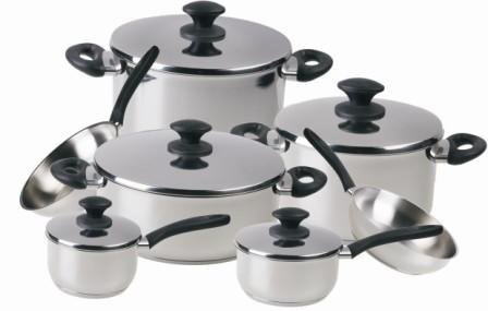 Chef's Superior Stainless-steel 12-piece Cookware Set