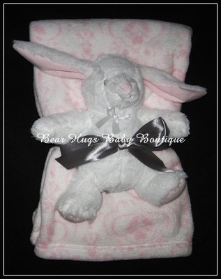 Blankets & Beyond Baby Blanket & Bunny Toy (Pink)