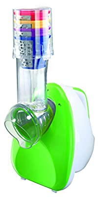 Salton DS1457 Salton 3-in-1 Frozen Dessert Maker/Slicer/Grater, White/Green