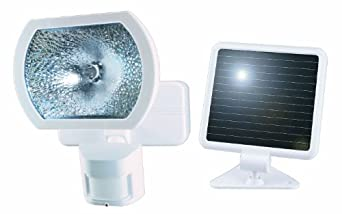 Heath/Zenith SL-7001-WH-C Solar-Powered 180-Degree Motion-Activated Halogen Security Light, White