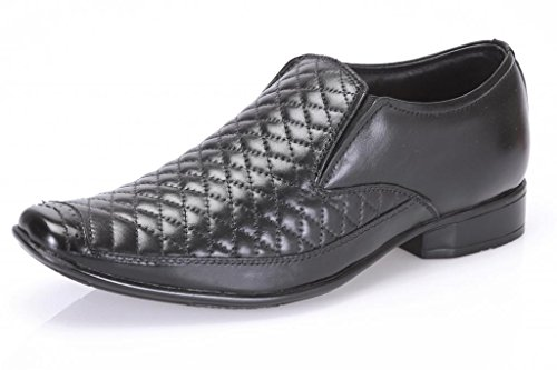 Butello Men's Black Leather Formal Shoes