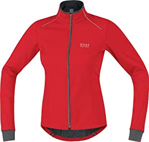 GORE BIKE WEAR Damen Jacke Contest Soft Shell, red/black, 38, JWCONL359908