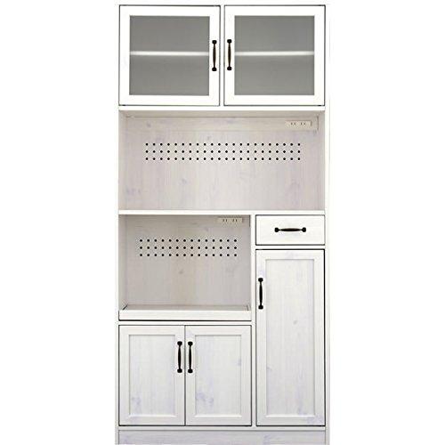 レンジ台 カップボード 食器棚 ホワイト キッチン家電収納 おしゃれ LUFFYレンジボード(ハイタイプ90cm幅)sd4197155
