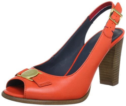Tommy Hilfiger JOAN 1 Peep-Toe Women Red Rot (RED ORANGE 646) Size: 5 (38 EU)