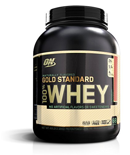Optimum Nutrition Gold Standard 100% Whey, Naturally Flavored Strawberry, 4.8 Pound