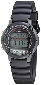 Casio LW-22H-1AVES Unisex Digital Quartz Watch with Black Resin Strap