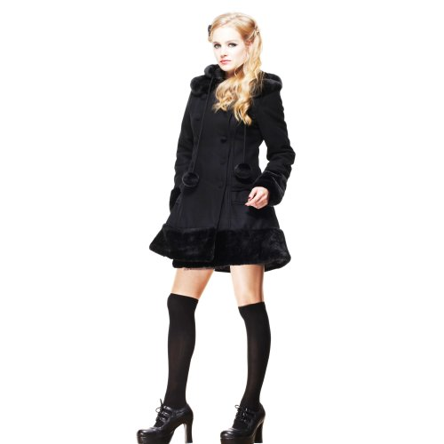Hell Bunny cappotto corto Sarah Jane, nero nero M