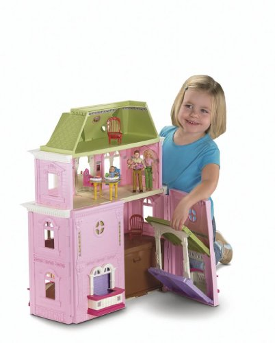 Toy / Game Fisher-Price Loving Family Beautiful Pink Grand Dollhouse - Dream Up Her Own! (Ages 3 Years And Up)