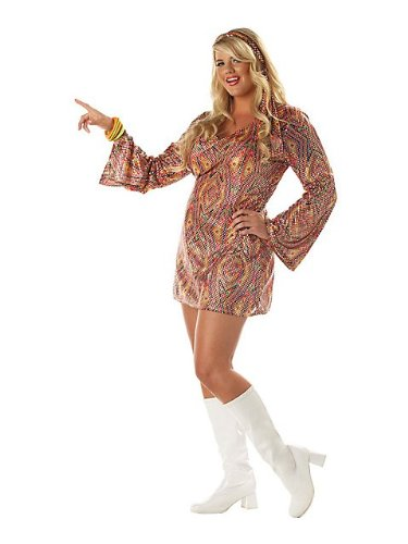Womens Disco Dolly Plus Costume 2X