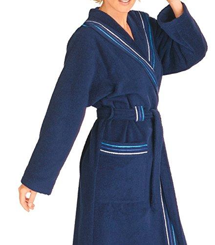 s.Oliver Damen Frottier Bademantel, Kimono Form, 2 Farben rot oder blau, Farbedunkelblau;Größe44/46  Bekleidung Kundenbewertung und weitere Informationen